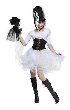 Sexy Monster Braut Kostüm | Sexy Hochzeitskleid ganz in weiß | horror-shop.com