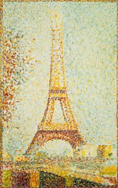 Georges Seurat - The Eiffel Tower, 1889, oil on wood, Fine Art Museum of San Francisco, USA.