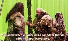 (gif) Hey guys! What are you doing? Please save your strength for the Orks … and the dragon. #thorin #dwalin