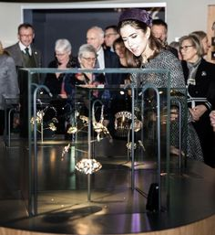 Crown Princess Mary Opens Jewellery Exhibition | Royal Hats