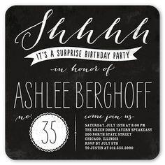 Invitation for surprise birthday party wording h pinterest big surprise 5x5 flat party invitation birthday invitations shutterfly stopboris Images
