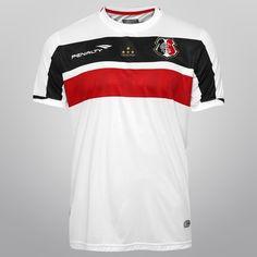 Camisa Penalty Santa Cruz II 2015 nº 10 - Branco+Preto