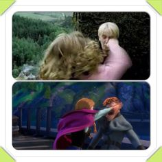 My 7 year olds favorite part of Frozen and Harry Potter,  she asked me to make this instacollage and put it on Pinterest. :)