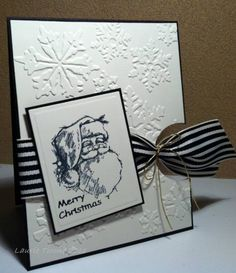 F4A92 ... Santa in black and white by HamiltonGal - Cards and Paper Crafts at Splitcoaststampers