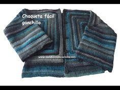 Como hacer Jersey Chaqueta hexágonos crochet ganchillo paso a paso/ - YouTube
