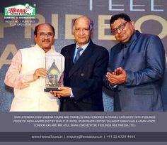 Congratulations Shri Jitendra Shah (Heena Tours & Travels) for winning Feeling Pride Of India Award 2017 (Travel Category).