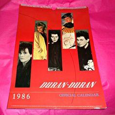 Rare Duran Duran Official 1986 Danilo by OwlVintageCalendars