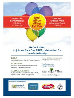ATTENTION GUELPH! Youth players and coaches are invited to the West Willow Village Fall Fair to meet with representatives from the Region of Waterloo Cricket Association for some fun and friendly cricket. If we can find enough players and coaches ROWCA and the Perth County Cricket Association will help you set up your own club! Bouncy Castle, Youre Invited, Coaches, Some Fun, Perth, Cricket, Invitations, Club, Activities