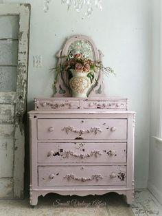 C H I P P Y Pink Dresser with Mirror Shabby Chic Pretty Beach Cottage Nursery on Etsy, $1,398.00