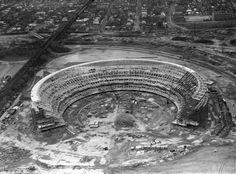Shea Stadium, 1962  Construction begins on Shea Stadium, future home to the New York Mets, in Flushing, Queens in 1962.