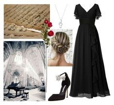"""""""Concert Flare"""" by pramesvvari on Polyvore featuring Kim Rogers, Manolo Blahnik and ConcertFlare"""