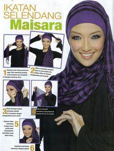 Easy tutorial but chic! Stylish Hijab, Hijab Chic, How To Wear Hijab, Hijab Style Tutorial, Scarf Styles, Hijab Styles, Muslim Beauty, Hijab Fashionista, Beautiful Muslim Women