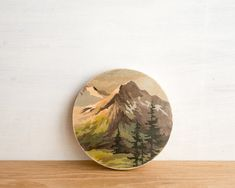 Paint by Number Circle Art Block 'Mountain High' - vintage landscape Circle Art, Paint By Number Kits, Vintage Painting, Art Block, Handmade Art, Paint By Number, Painting, Art, Vintage Landscape