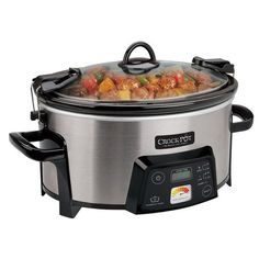 Crock-Pot liner can go in the oven up to 400*....Crock-Pot® 6-Quart Cook & Carry™ Digital Slow Cooker with Heat-Saver™ Stoneware, Brushed Stainless Steel