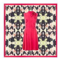 Among hypnotic flowers Short Sleeve Dresses, Summer Dresses, Shoe Bag, Flowers, Polyvore, Shopping, Collection, Black, Design