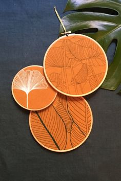 All the leaf embroidery hoops, please.