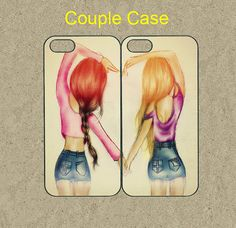 Two girls best friend cases fashion pair phone case cover for iphone 4 5 Best Friend Cases, Bff Cases, Ipod 4 Cases, Friends Phone Case, Case Iphone 6s, Girly Phone Cases, Cool Iphone Cases, Best Friends, Ipod 5