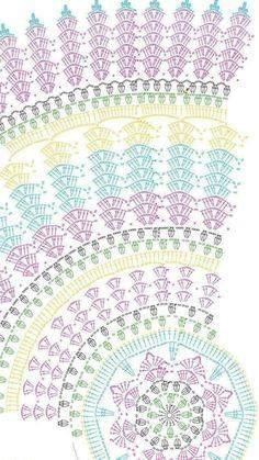 Crochet Doilies, Crochet Motif, Crochet Tablecloth… – - she Crochet Butterfly Free Pattern, Crochet Doily Diagram, Crochet Mandala Pattern, Crochet Circles, Crochet Doily Patterns, Crochet Stitches Patterns, Crochet Round, Crochet Squares, Crochet Doilies