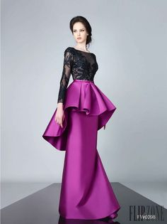 Edward Arsouni Haute Couture Spring Summer 2016 represents the most elegant styles of the year for a lady with a sassy sense of fashion and a daring spirit. Beautiful Gowns, Beautiful Outfits, Beautiful Dresses, Couture Dresses, Fashion Dresses, Peplum Dress, Dress Up, Moda Fashion, Designer Gowns