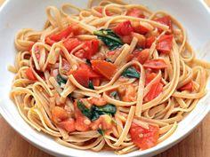 Alice Waters' Whole Wheat Pasta with Tomato Vinaigrette #recipe