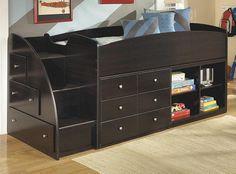 Geneva Espresso Twin Mid High Loft Bed 700 for all