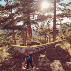 Day 2 : Camping in the #rockymountainnationalpark ⛺️ #hammock #rockymountains #grandtrunk