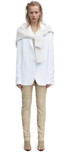 Fearn slouchy suit jacket in white crepe #AcneStudios #Resort2015