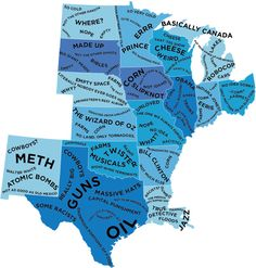 The Stereotype Map Of Every U.S. State — According To British People ...
