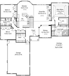 1000 images about floor plans on pinterest open concept Open concept ranch home plans