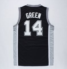 NBA San Antonio Spurs 14 GREEN black JERSEYS