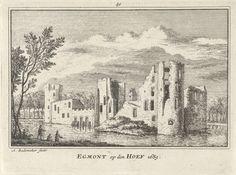 Ruïne van Kasteel Egmond, Abraham Rademaker, Willem Barents, Antoni Schoonenburg, 1727 - 1733