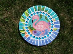 Mosaic Stepping Stone~Flamingo