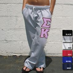 Sigma Kappa Sorority Open Bottom Sweatpants $34.99