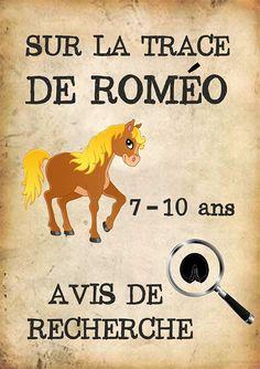 Chasse au trésor sous forme d'enquête sur le thème des poneys pour les enfants de 7 à 10 ans