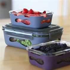 Glass Rectangle with Silicone Sleeve - 36oz - Eggplant