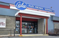 Lake Electronic Service Neon Sign - Colonie, New York