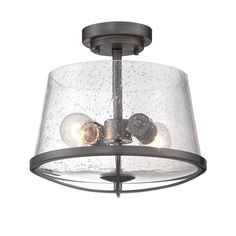 Buy the Designers Fountain Weathered Iron Direct. Shop for the Designers Fountain Weathered Iron Darby 2 Light Wide Semi-Flush Bowl Ceiling Fixture with a Seedy Glass Shade and save. Semi Flush Lighting, Semi Flush Ceiling Lights, Flush Mount Ceiling, Ceiling Light Fixtures, Ceiling Lighting, Hallway Lighting, Barn Lighting, Farmhouse Lighting, Bedroom Lighting