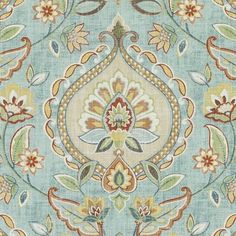 246 Aegean by Duralee Designer Fabric - Linen, Rayon CHINA Wyzenbeek Method H: inches, V: inches 54 inches - Swanky Fabrics - Ikat Fabric, Fabric Decor, Fabric Design, Cushion Fabric, Blue Fabric, Chinoiserie Motifs, Coral Pattern, Blue China, Fabric Patterns