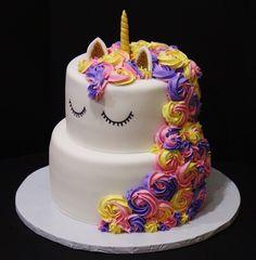 Unicorn Children's Cake by Cecy huezo and Marina Lamb .  www.delightfulcakesbycecy.com
