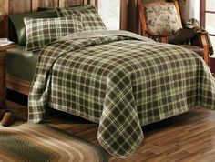 The Polartec Three-Piece Comforter Set combines the softness of a 170-gram cotton flannel side with the plush warmth of a 260-gram Primalush polyester fleece side. Matching shams complete the look. Available: Twin, Queen, King.