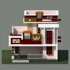 House Wall Design, House Balcony Design, House Main Gates Design, Single Floor House Design, Home Stairs Design, Duplex House Design, Home Building Design, House Front Design, Small House Design