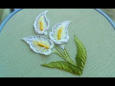 Handcrafting a satin stitch flower embroidery may well be a lost art in the near future. However, this is a skill that anyone can practice and learn and make beautiful embroidery handpieces for all occasions. Hand Embroidery Tutorial, Embroidery Flowers Pattern, Embroidery Transfers, Hand Embroidery Designs, Vintage Embroidery, Custom Embroidery, Ribbon Embroidery, Embroidery Digitizing, Flower Patterns