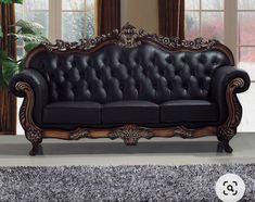 Sofa Tables, Sofa Chair, Sofa Furniture, Living Room Furniture, Colorful Couch, Living Room Sofa Design, Apartment Sofa, Studded Leather, Real Leather