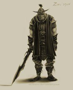 Skyrim Orsinium Mod - Orc Concept 1 by TheAstro on DeviantArt