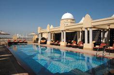 Shangri-La Qaryat al Beri rooftop pool, Abu Dhabi