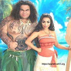 Disney Cosplay Moana and Maui Disney Cosplay, Cosplay Anime, Belle Cosplay, Maui Cosplay, Epic Cosplay, Amazing Cosplay, Costume Halloween Porte Bebe, Halloween Carnival, Couple Halloween Costumes