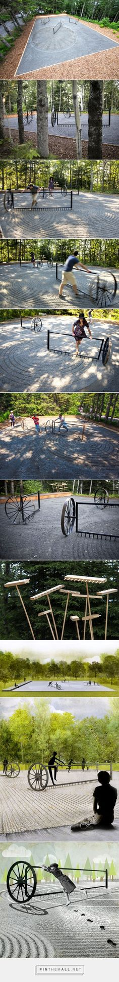talmon biran architecture composes interactive zen garden - created via http://pinthemall.net