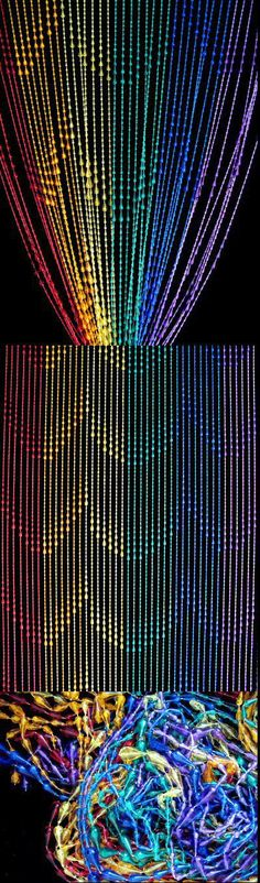 Rain Drops Rainbow Beaded Curtain Rain Drops Acrylic Beaded Curtain Rainbow