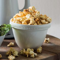 We decided to do something different and created a spicy popcorn for you to enjoy instead of the unhealthy butter flavoured variety. Spicy Popcorn, Starters, Cauliflower, Healthy Recipes, Snacks, Vegetables, Cooking, Food, Kitchen