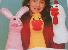 free chicken crochet patterns | Crochet Patterns Duck, Bunny Rabbit, and Chicken Hand Puppets Crochet ...